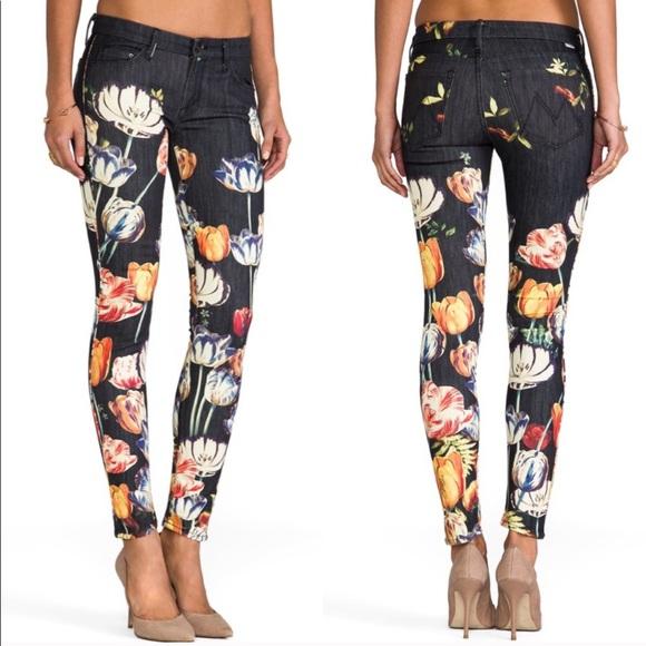 Anthropologie Denim - Mother the looker floral jeans